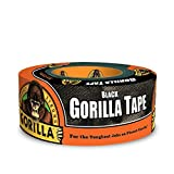 "Gorilla Tape, Black Duct Tape, 1.88"" x 12 yd, Black, (Pack of 1)"