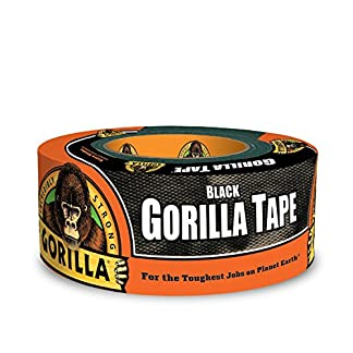 "Gorilla Tape, Black Duct Tape, 1.88"" x 12 yd, Black"