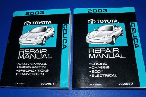 Download 2003 Toyota Celica Repair Manuals (ZZT230 & ZZT231 Series, 2 Volume Set) pdf epub