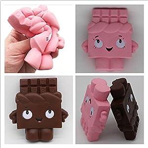 NPLE--13CM Cartoon Chocolate Girl Squishy Soft Fun Toy Slow Rising Cure Squeeze Gift