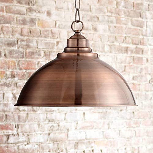 Southton Copper Dome Pendant Light 13 1/4″ Wide Modern Industrial Rustic Fixture