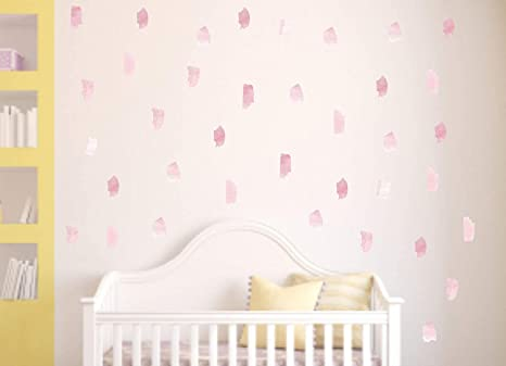 Pink Leopard Print Dot Wall Decals Removable /& Reusable
