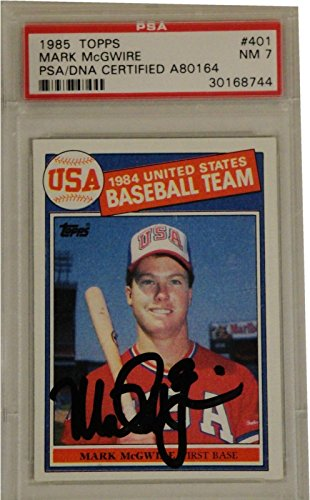 Sports Mark Mcgwire Hand Signed (Mark McGwire Hand Signed Autographed Rookie Card Vintage Signature PSA/DNA)