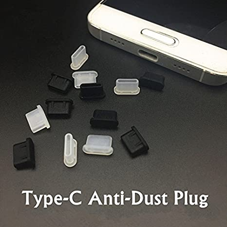 5 pcs Silicone USB Type-C Charge Port Dust Plug USB C Cable Interface Protector for Samsung Galaxy S8//S8 Plus Huawei P9//P9 Plus LG G5 V20 Nexus 6P 5X Google Pixel XL and Other Devices with USB Type-C