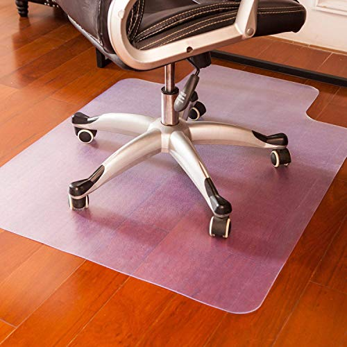 mysuntown Office Chair Mat for Hardwood Floor, Anti-Slip Thin Desk Floor Protective Mats 36 x 48 (Clear)