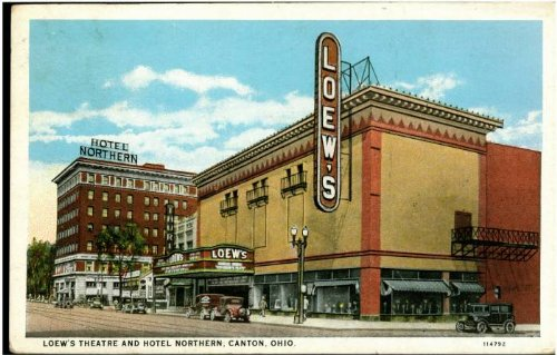 photo-reprint-loews-theatre-and-hotel-northern-canton-ohio-1931-1940