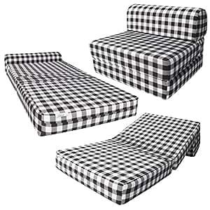 Amazon Com D Amp D Futon Furniture Black Amp White Checkers