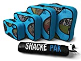 Shacke Pak - 4 Set Packing Cubes - Travel Organizers with...