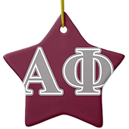 cheyan alpha phi silver letters metal ornament star