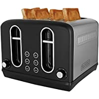 Black + Decker BXTO0401IN 2300-Watt 4 Slice Pop-up Toaster (Grey)