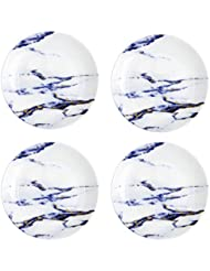 Prouna Marble Azure Canape Plate, Set of 4