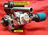 Exhaust Pipe for Predator 212cc & 79cc, Honda GX160, GX200. Go Kart & mini bikes