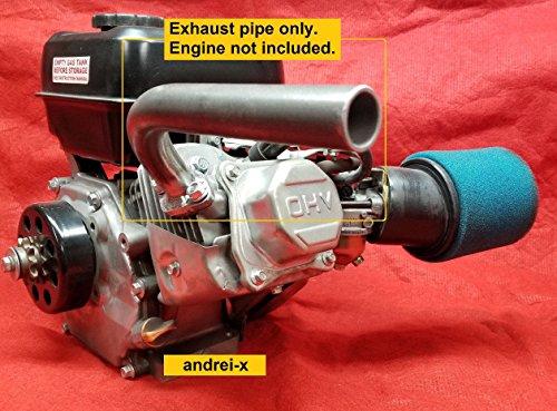 Exhaust Pipe for Predator 212cc & 79cc, Honda GX160, GX200. Go Kart & mini bikes
