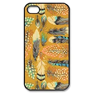 Feather YT011693 Phone Back Case Customized Art Print Design Hard Shell Protection Iphone 4,4S