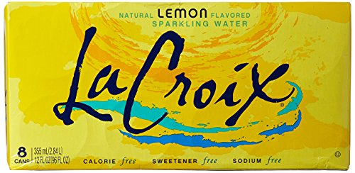 La Croix Sparkling Water, Lemon, 12 oz Can (Pack of 8)