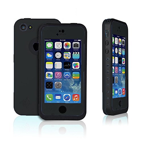 (Black New Arrival iPhone 5C Hard Shell Waterproof Cell Phone Protective Case, Awesome Protective Covers,Dirtproof, Snowproof, Shockproof Case.Buy Now to Protect Your Love iPhone!)