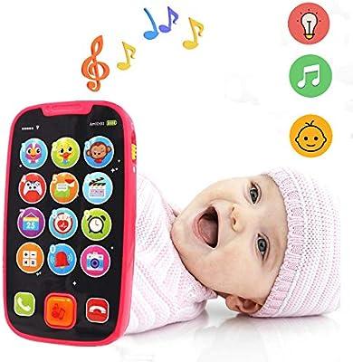 LUKAT Teléfono Bebés Smartphone Infantil, Teléfono Móvil Musical ...
