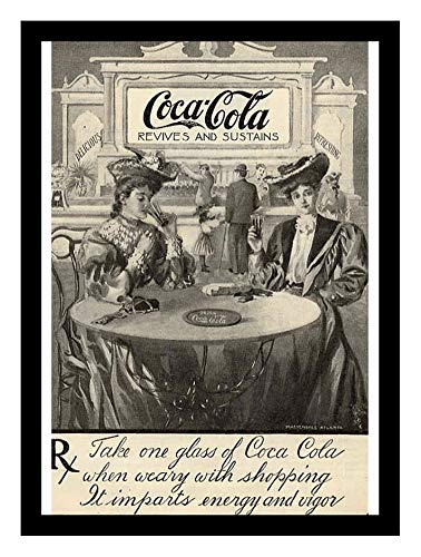 (Iron Ons 8 x 10 Photo Coca Cola Revives Sustains Ad Vintage Old Advertising Campaign Ads)