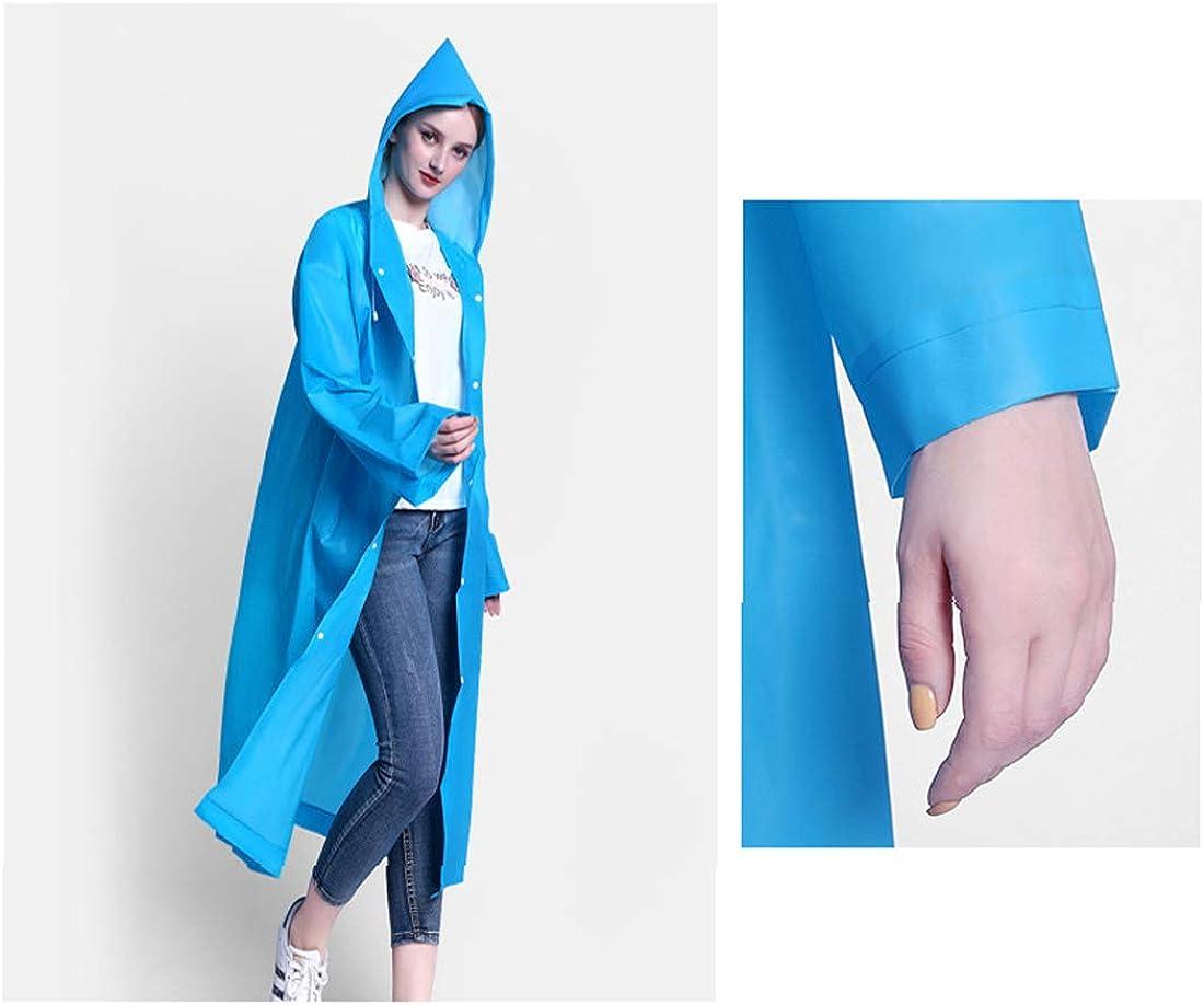 Imperm/éable r/éutilisable pour adultes poncho l/éger en EVA non toxique avec capuche et manches