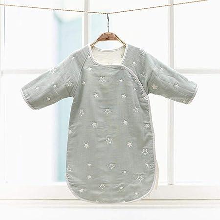 flqwe Saco De Dormir Infantil Cuna,Saco de Dormir de Gasa de algodón para bebés con Mangas, Traje de bebé para Gatear-E_30-50cm,Saco De Dormir De AlgodóN CáLido para Bebé: Amazon.es: Hogar