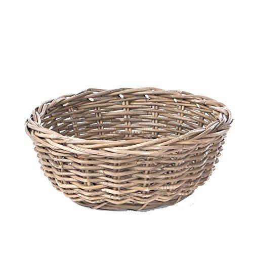 Skalny Kooboo Round Rattan Bowl, 17.75 x 7, Grey (Kooboo Rattan)