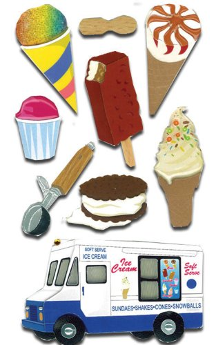 - Jolee's Boutique Dimensional Stickers,  Ice Cream