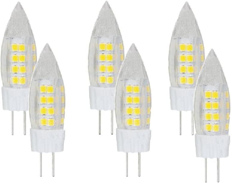 White Best to Buy 5-pack LED-G8-3.5W-110-130V Replacement LED Light Bulb