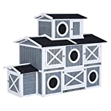 Pawhut Large Three Level Deluxe Backyard Chicken Coop Barn