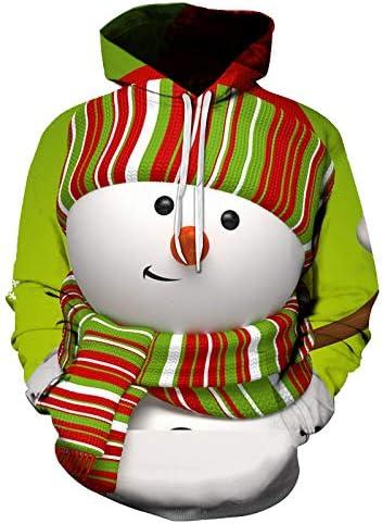 Navidad 3D impresión Digital Pareja suéter con Capucha de Manga ...