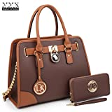 MMK Collection Fashion Classic Packlock Handbag for Lady(6892/6487) Signature fashion Designer Purse Handbag (6892W-CF)