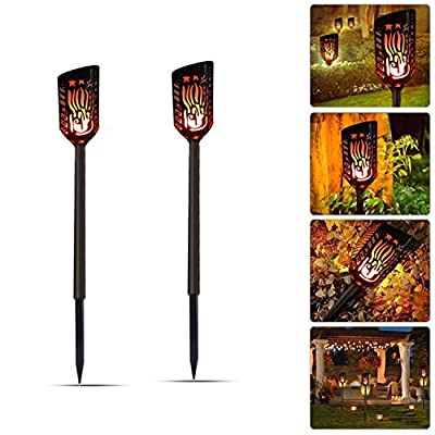 Torches Lights Outdoor, Mworld Solar Lights Waterproof Flickering Flames Spotlights 102 LEDs Landscape Lighting Dusk To Dawn Security Light For Patio Deck Yard Driveway