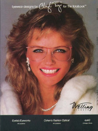 Cheryl Tiegs for Welling Eyewear ad - Welling Eyewear