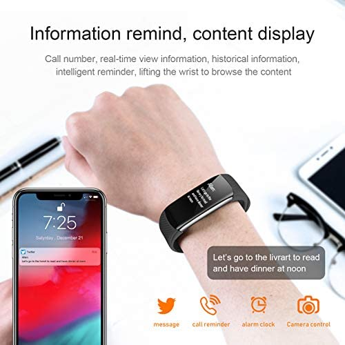 UMO Intelligent Bracelet, Multifunctional Temperature Measuring, Fever Detection Waterproof Smart Watch, Smartband, Heart Rate, Pedometer, Activity & Fitness Trackers 8
