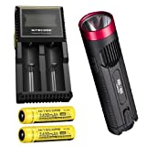 Combo: Red Nitecore EC4GT w/ D2 Charger & 2x NL189 Batteries