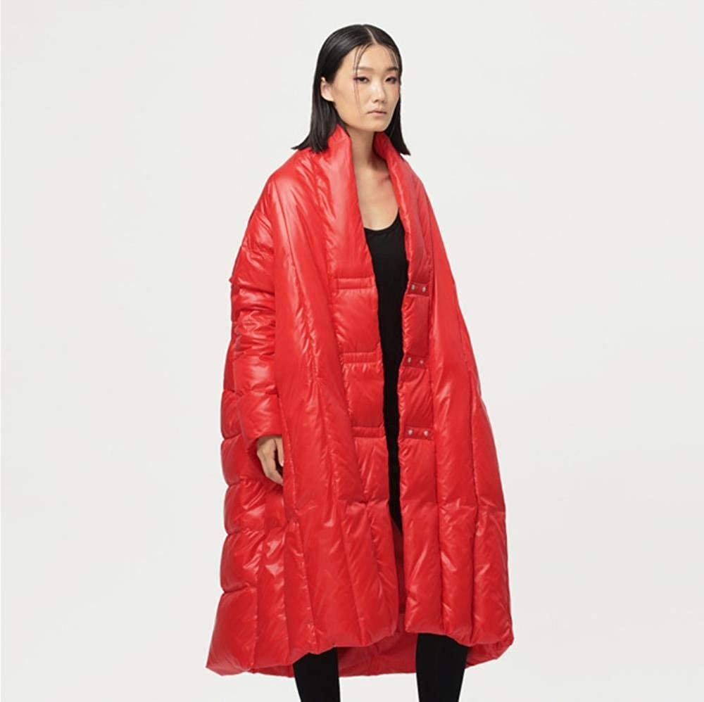 A-gavvzq Winter Jacket for Women Fashion Series Long and Loose Jacket Coat Jacket Warm Jacket Orange
