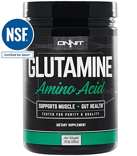 Onnit Glutamine | Boosts Aerobic Performance, Reaction Time and Gut Health | NSF Certified for Sport | 60 Servings (Unflavored) Review