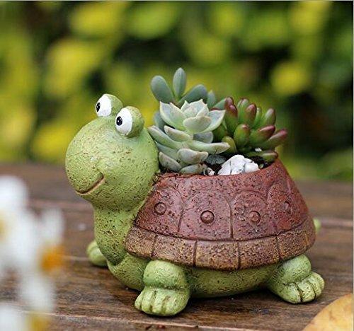 Cute Animal Plant Pots Cartoon Shaped Succulent Vase Flower Pots,Container,Home Decoration Planter Pots,Desk Mini Ornament (tortoise)