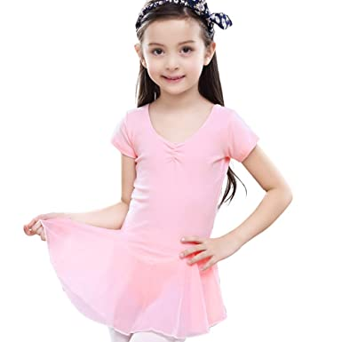 7c645d58f Amazon.com  Little Girls Cute Tutu Dress Leotard for Dance ...
