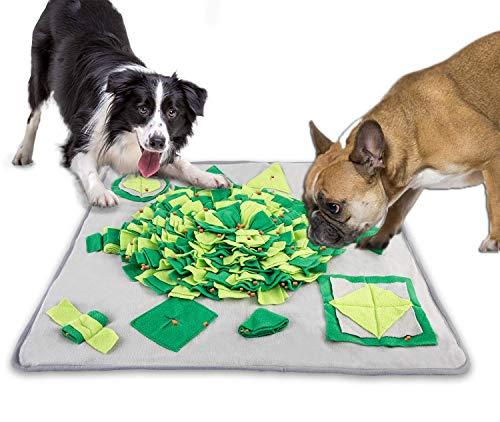 YLK Dog Snuffle Mat, Dog Feeding Mat, Durable Interactive Puzzle Dog Toys, 27.5″ x 27.5″