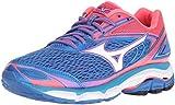 Mizuno Women's Wave Inspire 13 Running Shoe, Malibu Blue/Pink, 7.5 B US