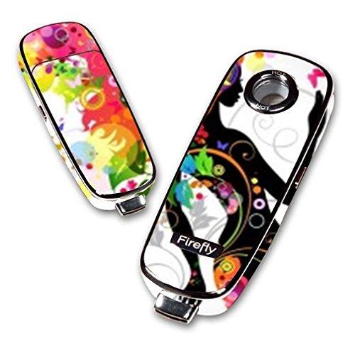 Decal Sticker Skin WRAP - Firefly Vaporizer - Sticker Skin Print Colorful Floral Beautiful Girl Big Hair Printed Design]()