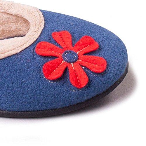 Estar Sintética Tela Azul Padders Zapatillas Mujer Por De Para Casa wYEA1Y
