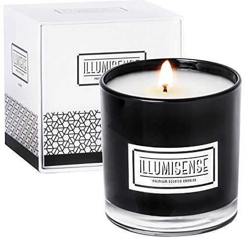 ILLUMISENSE Premium Scented Candles, All Natural, Soy Wax Candle With Unique Fragrance | 75-80 Hours Burn Time | 100% Cotton Wick, Soot-Free, Burns Clean | Gift Box Included