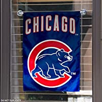 Chicago Cubs Walking Bear Double Sided Garden Flag
