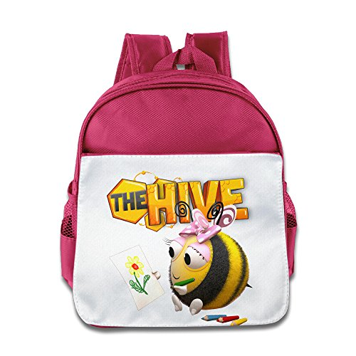 XJBD Custom Cool The Hive Kids Children School Bag Backpack For 1-6 Years Old Pink ()