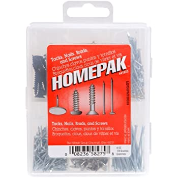 HOMEPAK 41823 Nails, Tacks and Brad Assortment
