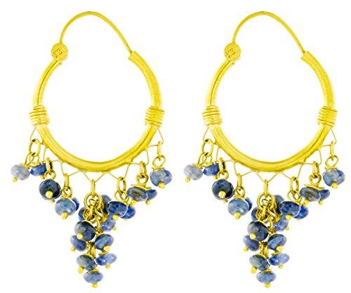 Sapphire Hoop Chandeliers - 18 K Gold