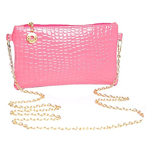 Donalworld Chain Women Bag Rose Pattern Strap Alligator Shoulder rFRrqxO