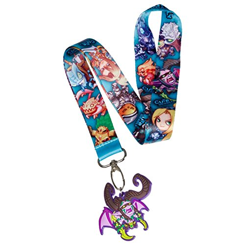 World of Warcraft Illidan Stormrage Keychain | Double Sided Character Lanyard - Oval Hook Attachment
