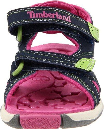 Timberland Mad River Strap, Sandalias Infantil Azul (Navy/Pink)